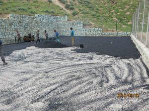 اجرای آسفالت زمین والیبال در بوستان سعیدآباد