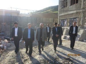 بازدید فرماندار شهرستان پردیس و بخشدار جاجرود از مدرسه نوساز سعیدآباد