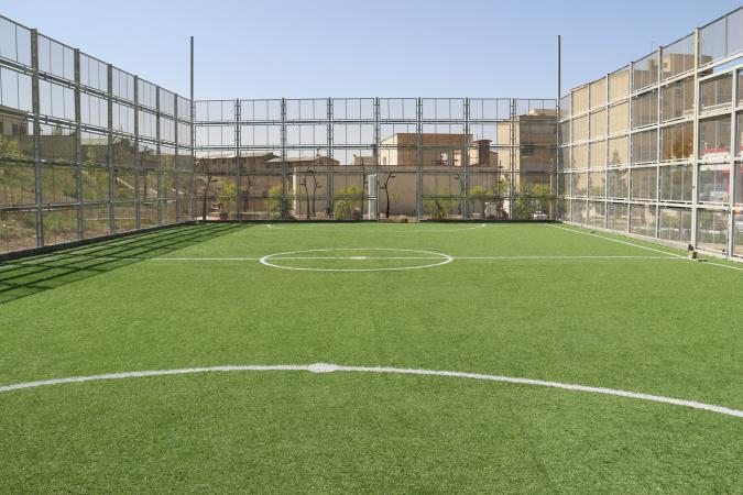 افتتاح زمین چمن مصنوعی فوتبال در پردیس