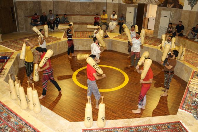 تصاویر/ ورزش باستانی در گود زورخانه «شهدای هستهای» پردیس
