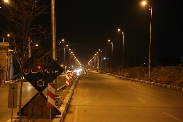 بهرهبرداری از پروژه روشنایی بلوار امام رضا (ع) بومهن