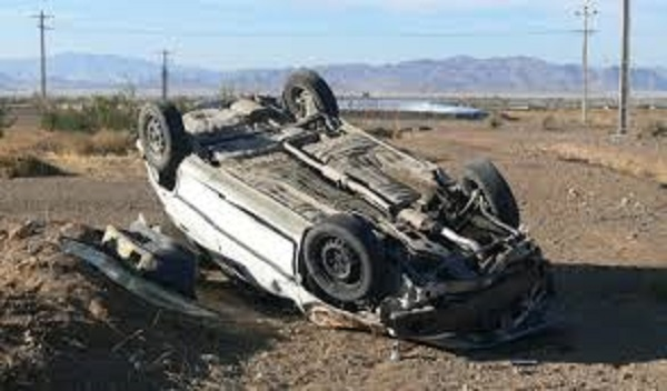 واژگونی خودروی سواری پژو ۴۰۵ در جاده کمربندی بومهن/ فوت سرنشین خودرو بر اثر تخطی از سرعت مجاز