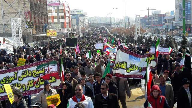 تصویر از راهپیمایی پرشکوه ۲۲ بهمن در شهرهای بومهن، پردیس و جاجرود