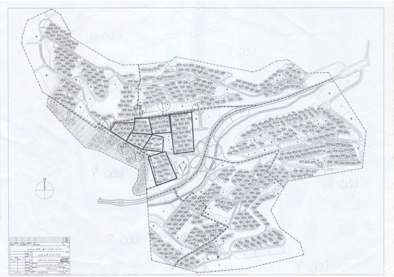 نقشه بلوکهای فاز ۱۱ شهر پردیس