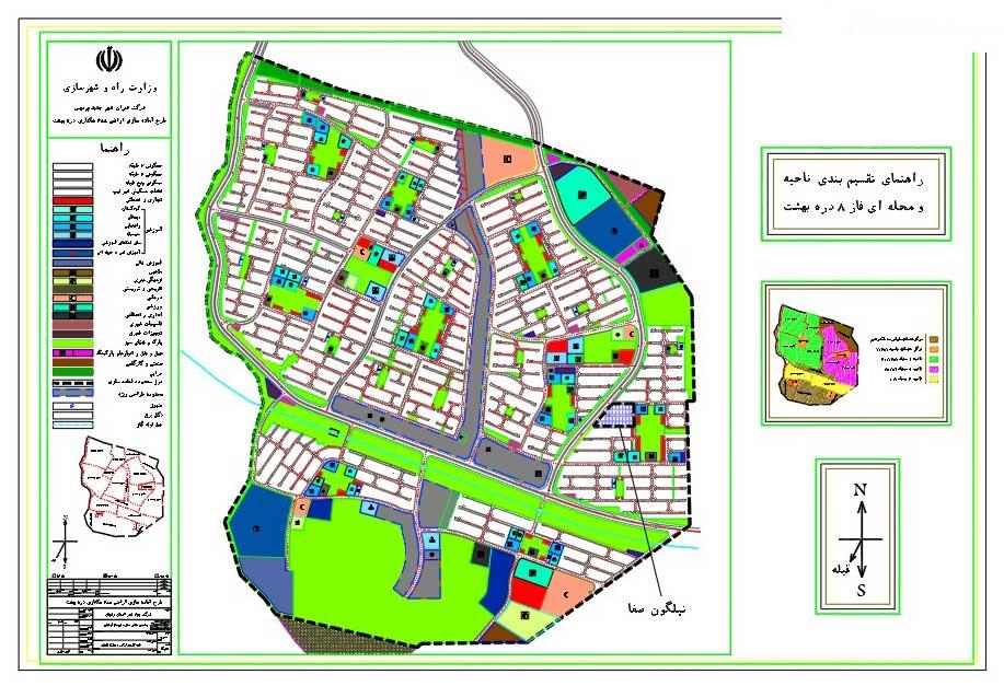 نقشه فاز 8 (دره بهشت) شهر پردیس