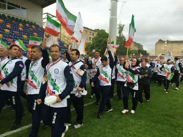 شرکت فاطمه حیدری ورزشکار پردیسی در مسابقات المپیک کارگری لتونی
