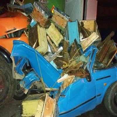 تصادف زنجیره ای ۶ خودرو در محدوده جاجرود تلفات جانی دربرنداشت