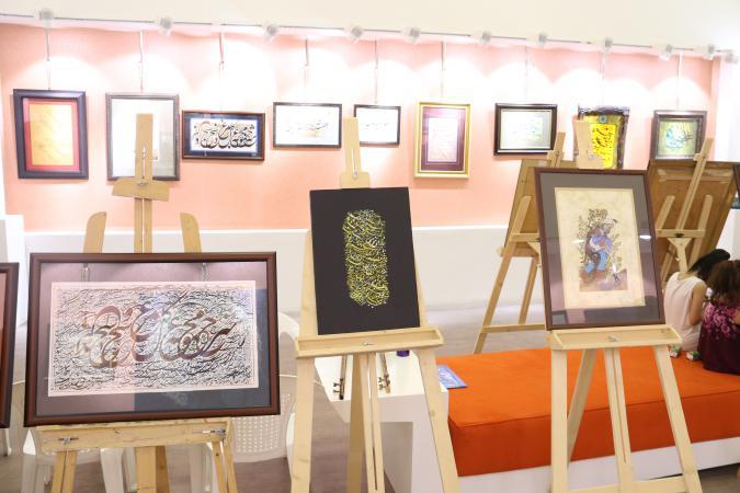 اختتامیه نمایشگاه خوشنویسی پردیس در نگارخانه آوا برگزار شد + تصاویر