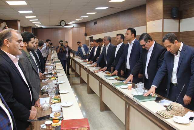 برگزاری مراسم تحلیف اعضای شورای اسلامی شهر بومهن/ «محمود قانبیلی» رئیس شورای شهر بومهن شد