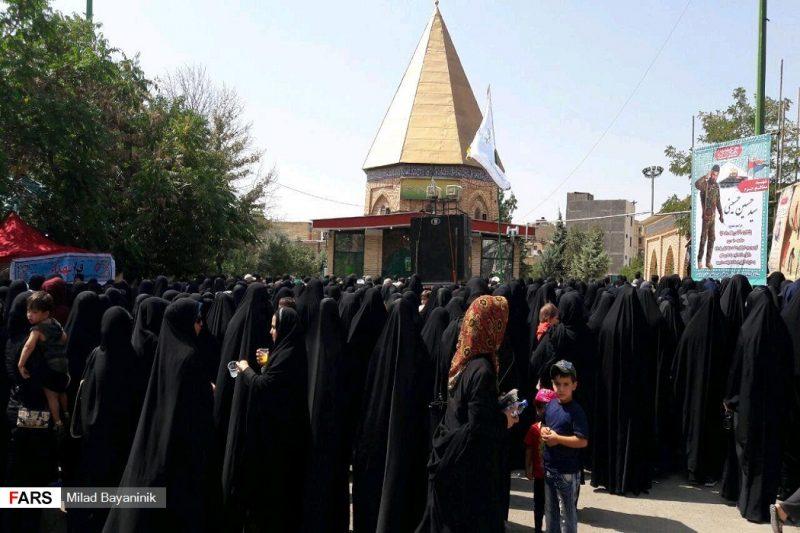 تشییع پیکر شهید مدافع حرم «سیدحسین حسینی» در پردیس