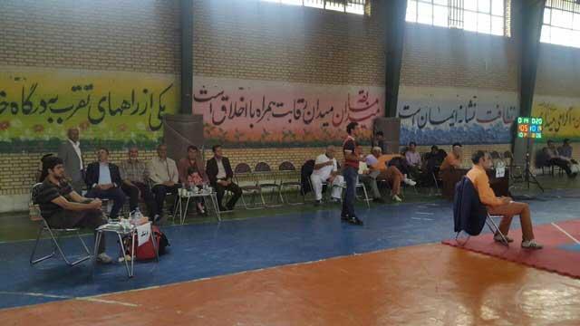 مسابقات تکواندو آزاد توابع استان تهران در بومهن برگزار شد