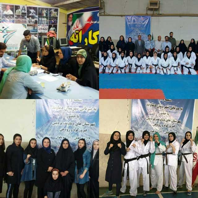 تیم منتخب کاراته بانوان شهرستان پردیس مقام اول مسابقات آیندهسازان شرق تهران را کسب کرد