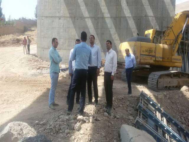 بازدید اعضای شورای شهر بومهن از پروژههای عمرانی شهر بومهن