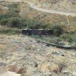سقوط اتوبوس دره جاجرود