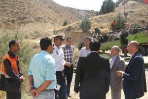 بازدید مدیر کل امنیتی استانداری تهران از محل تصادف جاجرود