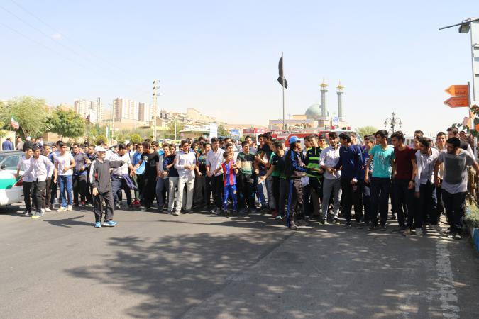 برگزاری مسابقه دومیدانی در شهر پردیس بهمناسبت هفته تربیت بدنی