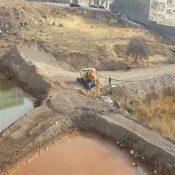 اصلاح آبگیر فضای سبز بلوار «فروردین شمالی» پردیس