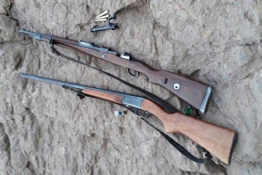 کشف و ضبط ادوات شکار درگشت و پایش ماموران یگان حفاظت پارکهای ملی خجیر و سرخهحصار