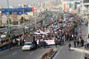 راهپیمایی مردم شهرستان پردیس در محکومیت اغتشاشات اخیر