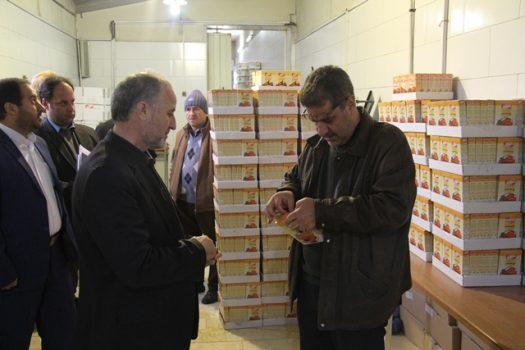 بازدید مسئولان از یک کارگاه صنایع تبدیل و بستهبندی در شهرستان پردیس
