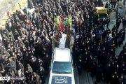 پیکرهای مطهر ۲ شهید گمنام در بومهن تشییع شد + تصاویر