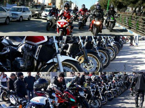 مانور موتوری در شهرستان پردیس به مناسبت دهه فجر
