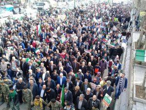 راهپیمایی ۲۲ بهمن در شهر بومهن