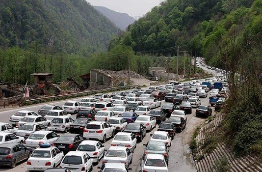 محور هزار و فیروزکوه با ترافیک سنگین روبرو است