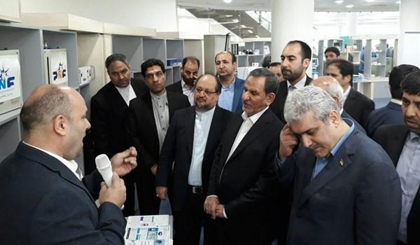 تصویر از شرکتهای عضو پارک فناوری پردیس مورد بازدید معاون اول رئیس جمهور