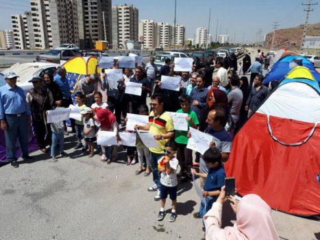 اعتراض متقاضیان مسکن مهر پردیس