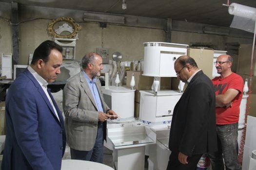 بازدید مسئولان از سه واحد تولیدی در منطقه کمرد جاجرود