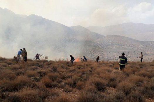 مهار آتشسوزی در ۲ هکتار از مراتع «تماشا» و «واصفجان» شهرستان پردیس