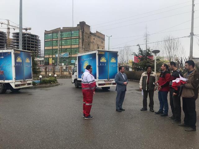 کمک های مردمی شهرستان پردیس سیل زدگان
