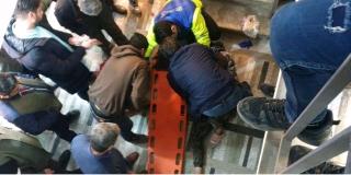 تصویر از سقوط مرد جوان از طبقه چهارم پاساژ خسروتاش بومهن