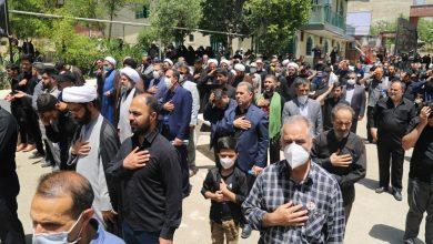 تصویر از برگزاری آئین سوگواری و عزاداری شهادت امام جعفر صادق(ع) در شهر بومهن