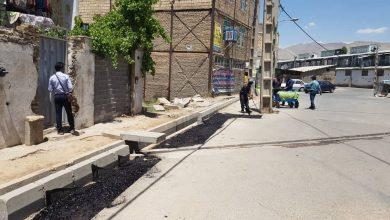 تصویر از خیابان شهید زاهدی و فرعیهای مربوطه در بومهن لکهگیری و آسفالت شد