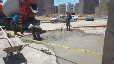 تصویر از اجرای بتونریزی و زیرسازی پیادهروی بلوار علامه طباطبایی در بومهن
