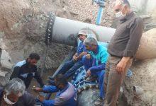 تصویر از تقویت آب ورودی کلکتور ایستگاه پمپاژ آب فاز ۱۱ شهر پردیس