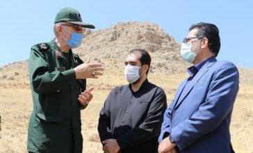 تصویر از گزینههای محل خاکسپاری پیکر مطهر شهدای گمنام در فاز 11 شهر پردیس بازدید شد