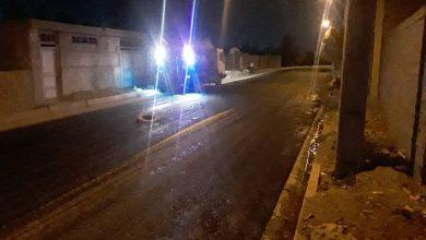 تصویر از اجرای عملیات جهادی زیرسازی و آسفالتریزی خیابان بهار شمالی توسط شهرداری بومهن