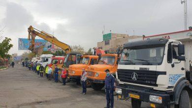تصویر از مانور نیروها، ماشینآلات و تجهیزات زمستانی شهرداری بومهن اجرا شد