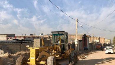 تصویر از آمادهسازی پروژه زیرسازی خیابان بنیامین بومهن برای آسفالتریزی