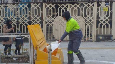 تصویر از نصب ۵۰ مخزن حاوی کیسههای نمک و شن در نقاط مختلف شهر بومهن