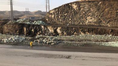 تصویر از ادامه عملیات احداث دیوار سنگی حائل زیرگذر کمربند جنوبی شهر بومهن