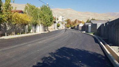تصویر از اتمام عملیات زیرسازی و آسفالت خیابان بهار شمالی در ده بومهن